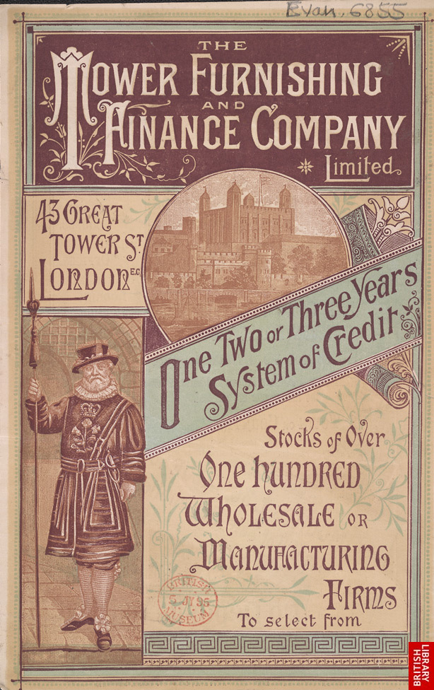 Advert for the Tower Furnishing & Finance Company